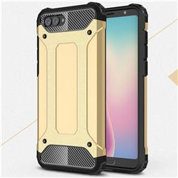 King Kong Armor Premium Shockproof Dual Layer Rugged Hard Cover for Huawei Nova 2s - Champagne Gold