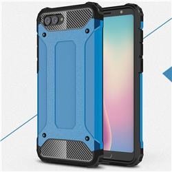 King Kong Armor Premium Shockproof Dual Layer Rugged Hard Cover for Huawei Nova 2s - Sky Blue