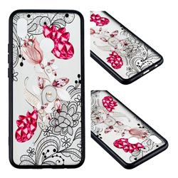 Tulip Lace Diamond Flower Soft TPU Back Cover for Huawei Nova 3