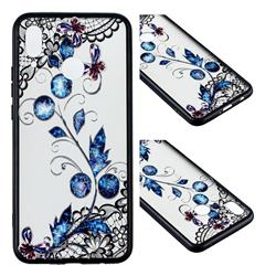 Butterfly Lace Diamond Flower Soft TPU Back Cover for Huawei Nova 3