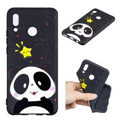 Cute Bear 3D Embossed Relief Black TPU Cell Phone Back Cover for Huawei Nova 3