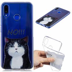 Cat Say No Clear Varnish Soft Phone Back Cover for Huawei Nova 3