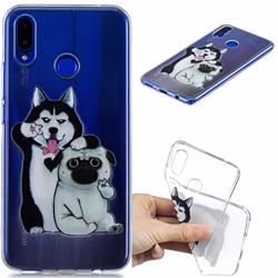 Selfie Dog Clear Varnish Soft Phone Back Cover for Huawei Nova 3