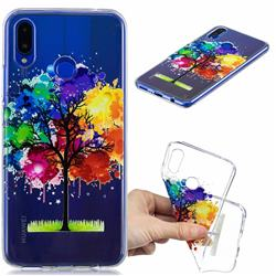 Oil Painting Tree Clear Varnish Soft Phone Back Cover for Huawei Nova 3