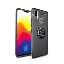Auto Focus Invisible Ring Holder Soft Phone Case for Huawei Nova 3 - Black