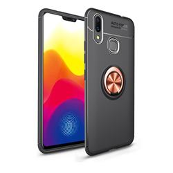 Auto Focus Invisible Ring Holder Soft Phone Case for Huawei Nova 3 - Black Gold
