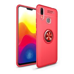Auto Focus Invisible Ring Holder Soft Phone Case for Huawei Nova 3 - Red