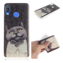 Cat Embrace IMD Soft TPU Cell Phone Back Cover for Huawei Nova 3