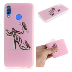 Butterfly High Heels IMD Soft TPU Cell Phone Back Cover for Huawei Nova 3