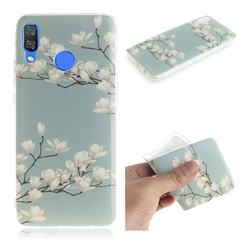 Magnolia Flower IMD Soft TPU Cell Phone Back Cover for Huawei Nova 3
