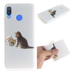 Cat and Tiger IMD Soft TPU Cell Phone Back Cover for Huawei Nova 3