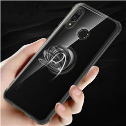 Anti-fall Invisible Press Bounce Ring Holder Phone Cover for Huawei Nova 3 - Elegant Black