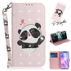 Heart Cat 3D Painted Leather Wallet Phone Case for Huawei Nova 3