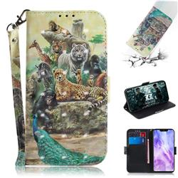 Beast Zoo 3D Painted Leather Wallet Phone Case for Huawei Nova 3