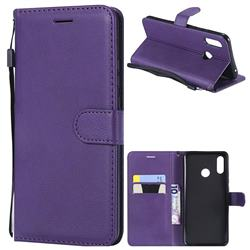 Retro Greek Classic Smooth PU Leather Wallet Phone Case for Huawei Nova 3 - Purple