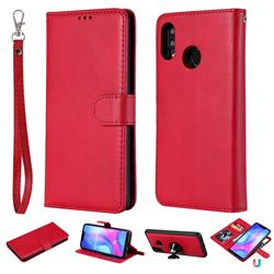 Retro Greek Detachable Magnetic PU Leather Wallet Phone Case for Huawei Nova 3 - Red