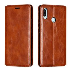 Retro Slim Magnetic Crazy Horse PU Leather Wallet Case for Huawei Nova 3 - Brown