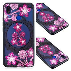 Daffodil Lace Diamond Flower Soft TPU Back Cover for Huawei Nova 3i