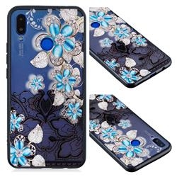 Lilac Lace Diamond Flower Soft TPU Back Cover for Huawei P Smart+ (Nova 3i)