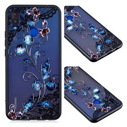 Butterfly Lace Diamond Flower Soft TPU Back Cover for Huawei P Smart+ (Nova 3i)