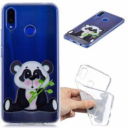 Bamboo Panda Clear Varnish Soft Phone Back Cover for Huawei Nova 3i