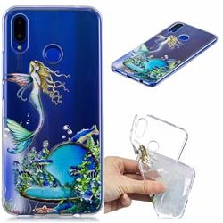 Mermaid Clear Varnish Soft Phone Back Cover for Huawei Nova 3i