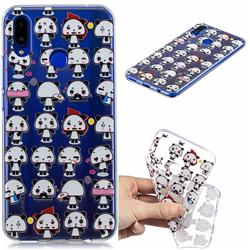 Mini Panda Clear Varnish Soft Phone Back Cover for Huawei P Smart+ (Nova 3i)