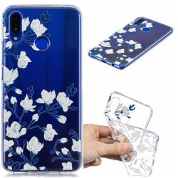 Magnolia Flower Clear Varnish Soft Phone Back Cover for Huawei P Smart+ (Nova 3i)