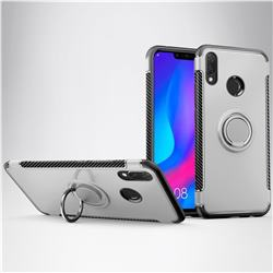 Armor Anti Drop Carbon PC + Silicon Invisible Ring Holder Phone Case for Huawei Nova 3i - Silver