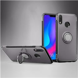 Armor Anti Drop Carbon PC + Silicon Invisible Ring Holder Phone Case for Huawei Nova 3i - Grey