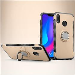 Armor Anti Drop Carbon PC + Silicon Invisible Ring Holder Phone Case for Huawei Nova 3i - Champagne