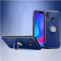 Armor Anti Drop Carbon PC + Silicon Invisible Ring Holder Phone Case for Huawei Nova 3i - Sapphire