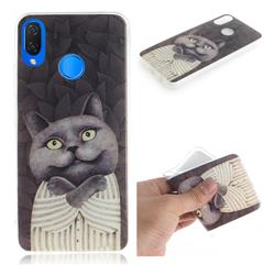 Cat Embrace IMD Soft TPU Cell Phone Back Cover for Huawei P Smart+ (Nova 3i)