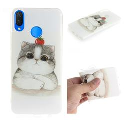 Cute Tomato Cat IMD Soft TPU Cell Phone Back Cover for Huawei P Smart+ (Nova 3i)