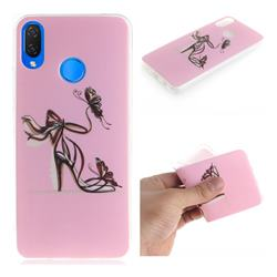 Butterfly High Heels IMD Soft TPU Cell Phone Back Cover for Huawei P Smart+ (Nova 3i)