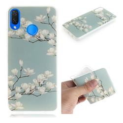 Magnolia Flower IMD Soft TPU Cell Phone Back Cover for Huawei P Smart+ (Nova 3i)