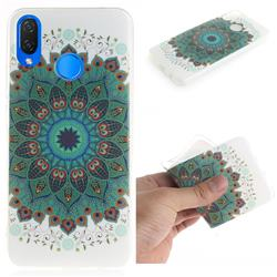 Peacock Mandala IMD Soft TPU Cell Phone Back Cover for Huawei P Smart+ (Nova 3i)