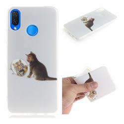 Cat and Tiger IMD Soft TPU Cell Phone Back Cover for Huawei Nova 3i