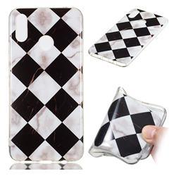 Black and White Matching Soft TPU Marble Pattern Phone Case for Huawei Nova 3i
