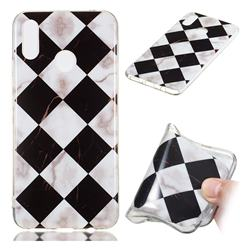 Black and White Matching Soft TPU Marble Pattern Phone Case for Huawei P Smart+ (Nova 3i)