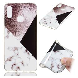 Black white Grey Soft TPU Marble Pattern Phone Case for Huawei P Smart+ (Nova 3i)