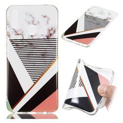 Pinstripe Soft TPU Marble Pattern Phone Case for Huawei P Smart+ (Nova 3i)