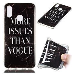 Stylish Black Soft TPU Marble Pattern Phone Case for Huawei P Smart+ (Nova 3i)
