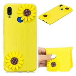 Yellow Sunflower Soft 3D Silicone Case for Huawei P Smart+ (Nova 3i)