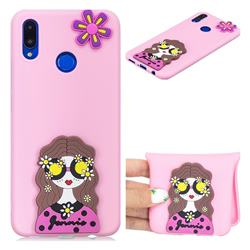 Violet Girl Soft 3D Silicone Case for Huawei P Smart+ (Nova 3i)