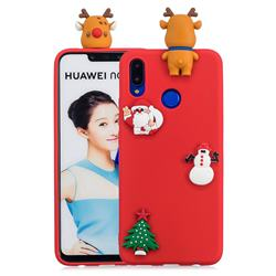 Red Elk Christmas Xmax Soft 3D Silicone Case for Huawei P Smart+ (Nova 3i)