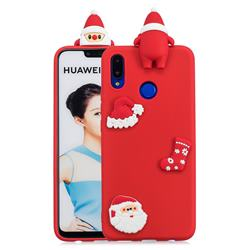 Red Santa Claus Christmas Xmax Soft 3D Silicone Case for Huawei P Smart+ (Nova 3i)