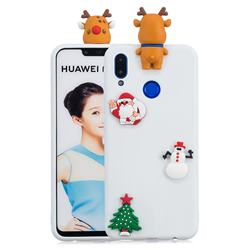 White Elk Christmas Xmax Soft 3D Silicone Case for Huawei Nova 3i