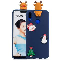 Navy Elk Christmas Xmax Soft 3D Silicone Case for Huawei P Smart+ (Nova 3i)