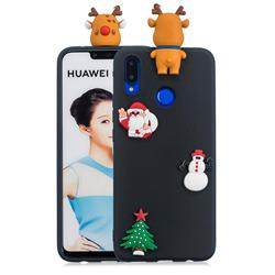 Black Elk Christmas Xmax Soft 3D Silicone Case for Huawei Nova 3i